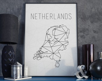 World Map State And City Art Nursery And Home By GrapeWanderlust - Norway netherlands map