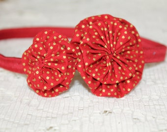Red & Gold Stretchy Headband