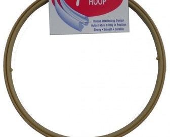 7 Inch No-Slip Embroidery Hoop, Interlocking Tongue and Groove Design