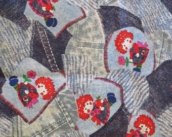 Vintage Raggedy Ann Cotton Fabric