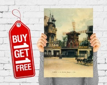 Moulin rouge theater Paris vintage poster retro advertising poster wall decor bedroom wall art design old street view - Moulin Rouge (2622)
