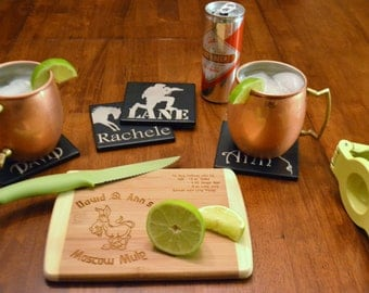 Moscow Mule Bamboo Cutting Board (Available Personalized)