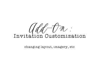 Add on: invitation customization