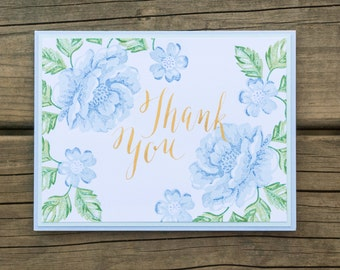 Handwritten Thank You Card, Handmade Stampin Up Greeting Card