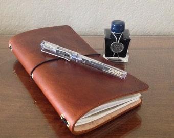 Custom Regular Size Leather Traveler's Notebook
