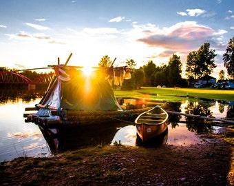 Raft canoe on the Swedish Kläralven