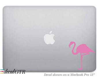 Macbook Decal Sticker -  Flamingo Laptop Notebook Removable Skin Macbook Pro Air - G046