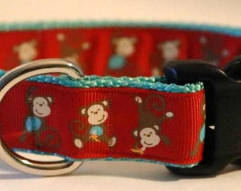 Red Monkey Dog Collar