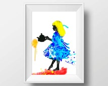 Alice in Wonderland print Alice in Wonderland Dictionary art print wall art decor Instant Download