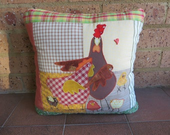 Decorative Cushion - Farmyard Theme - Patchwork