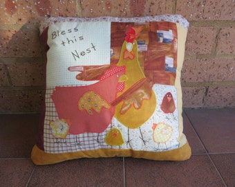 Decorative Patchwork Cushion -  Farmyard Theme