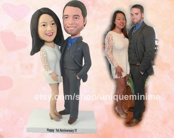Custom Bobblehead- Custom Handmade Wedding Cake   Topper , Custom Wedding Cake Topper, Custom Handmade Wedding Cake Topper.