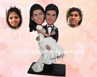 Personalized Wedding Cake Topper - Custom Mr and Mrs Design with Heart and Wedding