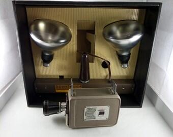 Kodak Brownie Movie 8mm Camera Camera Kit - Vintage Movie Camera with Lights - Vintage 8mm Brownie