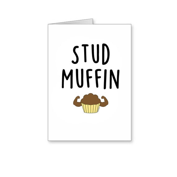Items Similar To Stud Muffin, Funny Birthday Card, Funny