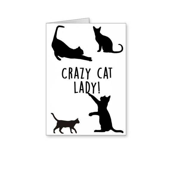Crazy Cat Lady Cat Lover I Love Cats Cat Gifts By BanterCards