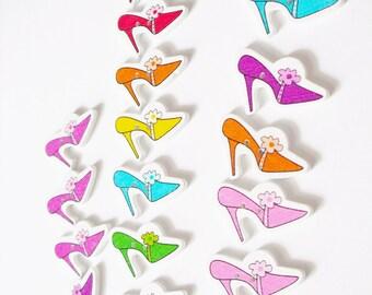 20 PCS button shoes Scrapbooking