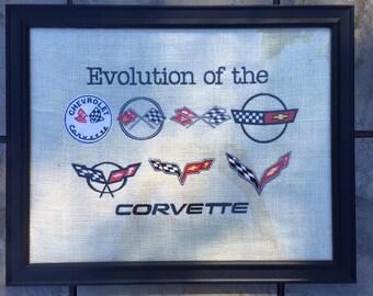 Classic Corvette Car Inspired Evolution Art