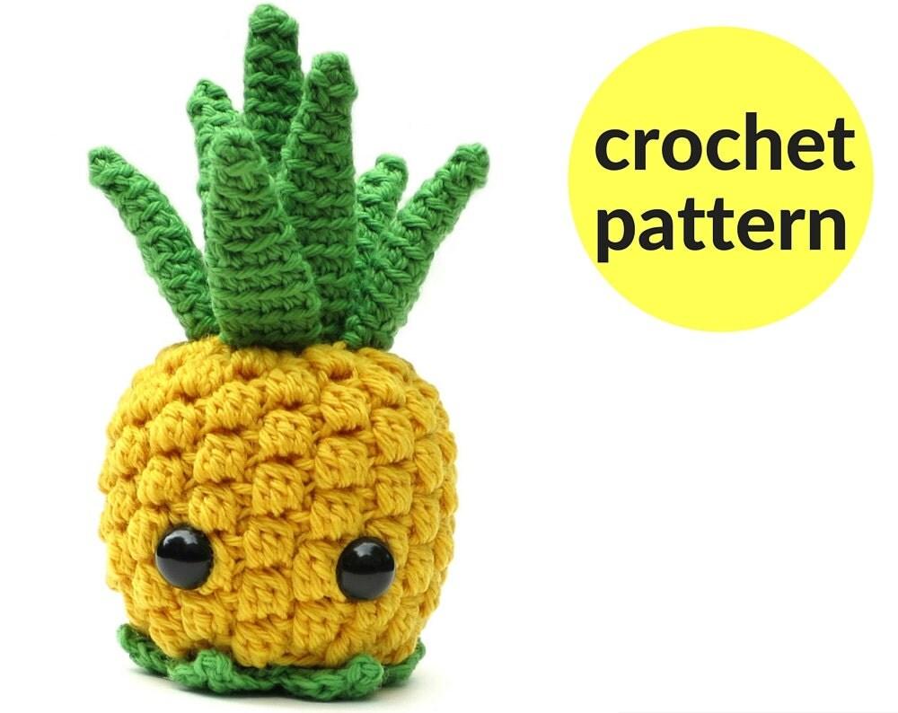 Save fruit doll - Pineapple Amigurumi Pattern Kawaii Pineapple Fruit Amigurumi Cute Crochet Pineapple Cute Stuffed Animal Crochet Pattern