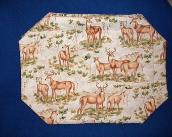 Set of 4 Deer Family Placemats