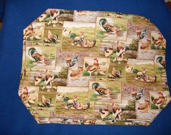 Set of 4 Rooster Placemats
