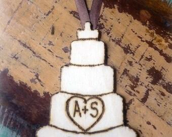 Our First Christmas Ornament Wedding Cake Rustic Wedding Decor