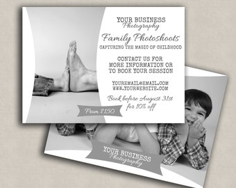 Photography Marketing Template, modern templates, Promotional family set, Flyer leaflet board, Digital Template for photographers
