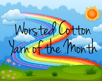 Worsted Cotton Yarn of the Month Club - Hand Dyed Yarn - Monthly Subscription - Gifts for Knitters - Worsted Weight Cotton Yarn - Painted
