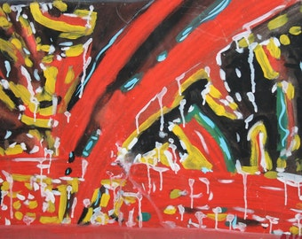 Abstract avant garde contemporary oil painting
