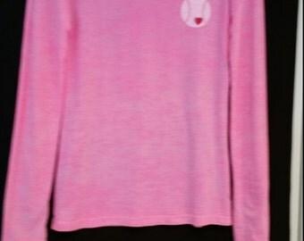 women's long sleeve burnout material tenniss t shirt