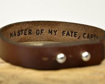 Men's Bracelet Cuff Leather Bracelet Personalized Mens Bracelet Women Leather Bracelet Hidden Message Bracelet Custom Bracelet For Mens Gift