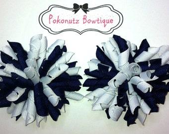 Hair Bows,  Hair Bow Set, School Uniform Hair Bows, School Bows, Girls Hair Bows, Girls Korker Hair Bows, Toddler Korker Bows, Toddler Bows