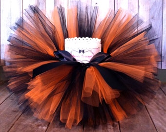 Orange and Black Tutu, Football Tutu, Halloween Tutu, Witch Tutu, Infant Tutu, Toddler Tutu, Baby tutu, Photo Prop Tutu, Cake Smash Tutu