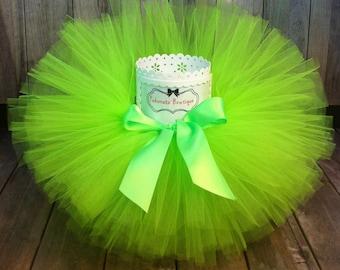 Tinkerbelle Tutu, Neon Green Tutu, Princess Tutu, Birthday Tutu, Girls Tutu, First Birthday Tutu, Infant Tutu, Baby Tutu, Toddler Tutu, Tutu