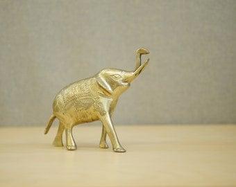 Ornate Brass Elephant / India