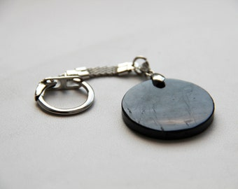 Shungite keychain round  (EMF protection) SK05