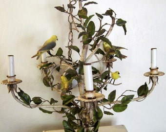 Vintage Bird Chandelier Made in Italy Rare