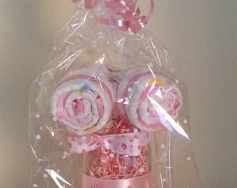 Baby lollipop gift jars