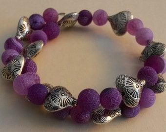 """Unique """"Nice"""" bracelet with agate and silver"""