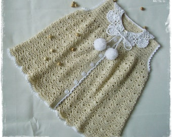 Beige vintage dress for babys/children