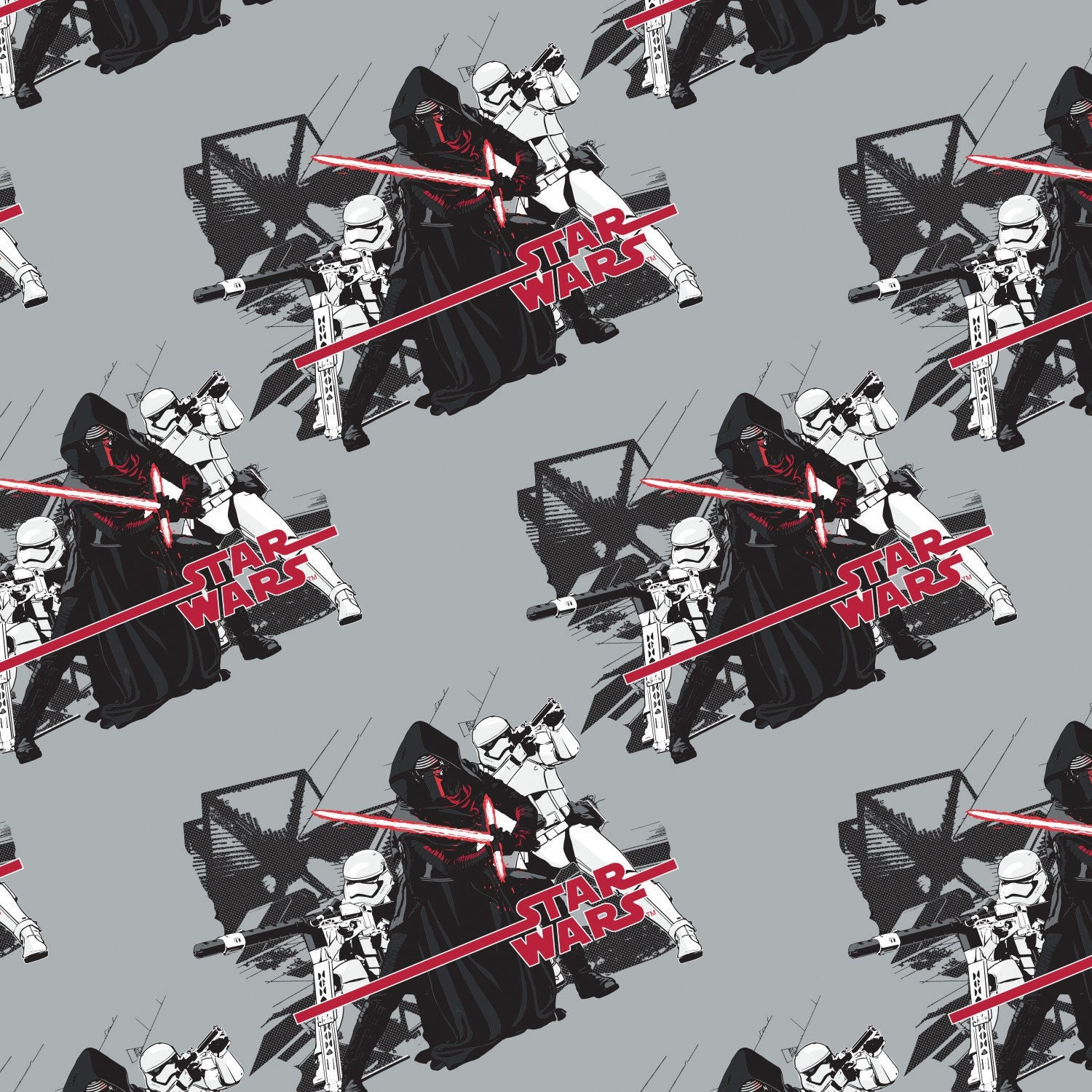 Quilting cotton fabric star wars the force awakens imperial for Star wars fabric