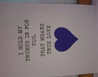 True love/fun/funny/occasion/present/birthday/boyfriend/husband/girlfriend/wife/print