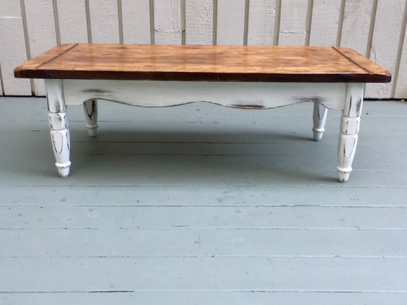 Farmhouse Coffee Table Cottage Coffee Table Rectangle Coffee