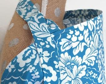 Nursing Cover Blue Floral Vintage -- Breastfeeding Cover Up Large Adjustable