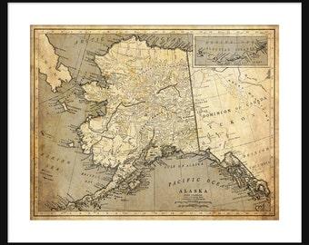 Alaska Map - Print - Poster