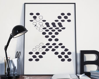 Typographic Letter A3/A4 Poster