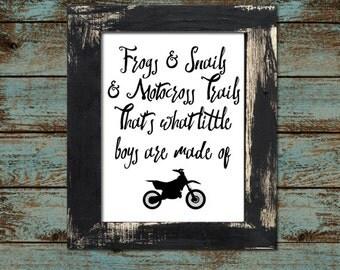 """Baby or Toddler Motocross Dirtbike Nursery - Playroom 11""""x14"""" - Digital Printable Download"""