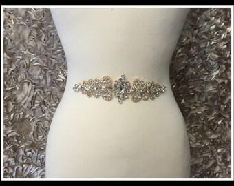 Vintage Rhinestone Applique (Silver, Gold, Rose Gold) #0137