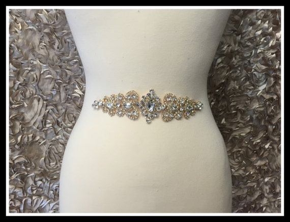 Vintage Rhinestone Applique Silver Gold Rose Gold 0137