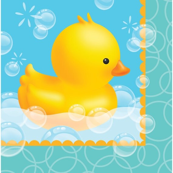 Baby Shower Napkins, Rubber Duck, Boy Baby Shower, Yellow Rubber Ducky, New  Baby, Little Duckling, Duck Party, Paper Napkins, Party Napkins From ...